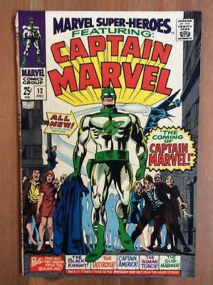 Marvel Super-Heroes 12 Origin & 1st Appearance of Captain Marvel