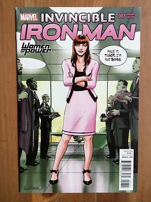 Invincible Iron Man 7 1st App Riri Williams Women of Power Variant RARE Hot! NM