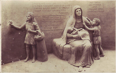 Rare 1929 Manly Sand Sculpture Postcard Very  Collectable