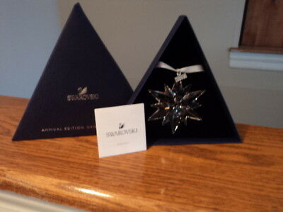 Swarovski Crystal 2017 Annual Edition Large Snowflake Star Ornament LIMITED NIB