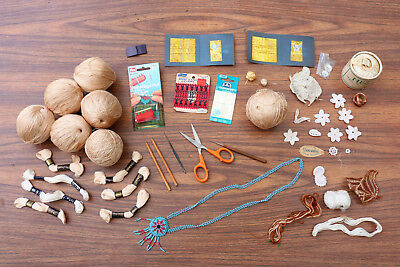 HUGE Lot of Antique Vintage Tatting Knitting Thread SEWING ITEMS Notions