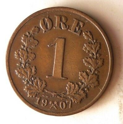 1907 NORWAY ORE - Super Scarce - High Value Coin - High Quality - Lot #N9