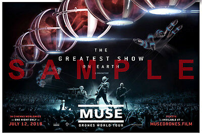 MUSE BAND 12x18 POSTER MATT BELLAMY SIMULATION THEORY DRONES WORLD TOUR