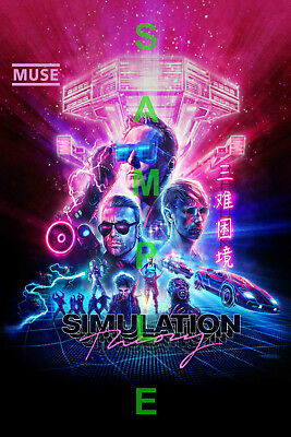 MUSE BAND 12x18 SIMULATION THEORY ALBUM COVER POSTER MATT BELLAMY WORLD TOUR