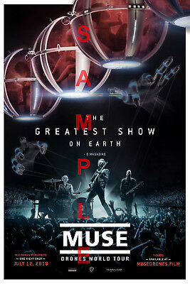 MUSE BAND 12x18 DRONES SHOW WORLD TOUR POSTER MATT BELLAMY SIMULATION THEORY