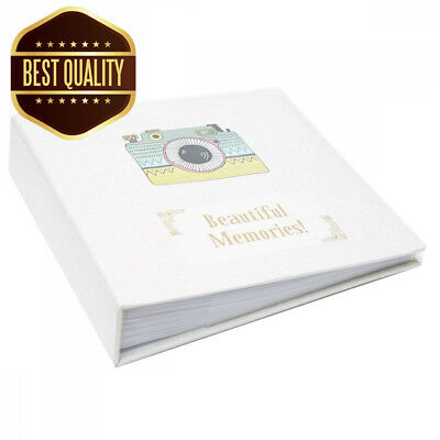 Large Ringbinder Photo Album 500 Photos Memories Design Holds 500 6x4""