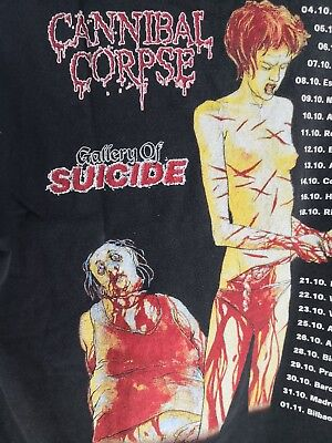 CANNIBAL CORPSE Vintage Gallery of Suicide T-Shirt //Pushead/Napalm Death/Slayer