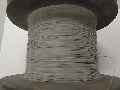 100' Gray Solid 29AWG 29ga Teflon coated copper magnet wire 100 feet