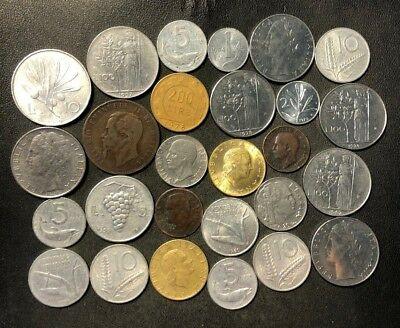 OLD ITALY COIN LOT - 1866-PreEuro - 27 Excellent Coins - Lot #N9