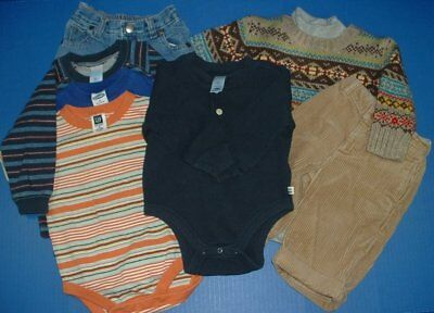 Baby Boy 8pc Winter Group Sweater Pants Jeans Rompers Top 6-12M