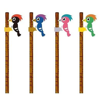 Woodpecker Eraser Top Pencil Rubber School Stationery Toy Gift Childs Kids