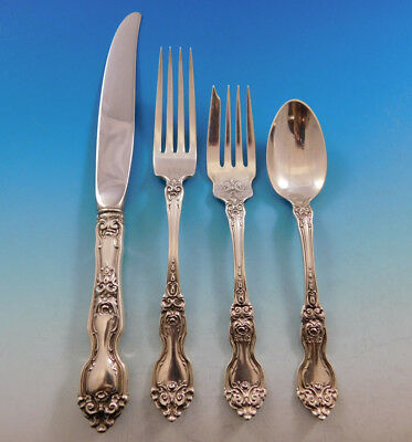 La Reine by Wallace Sterling Silver Flatware Set for 8 Service 32 Pieces