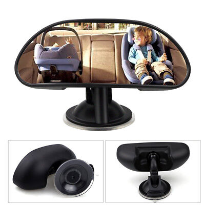 Car Rear View Adjustable Mirror Suction Stick On Car Interior Baby Kids Safety