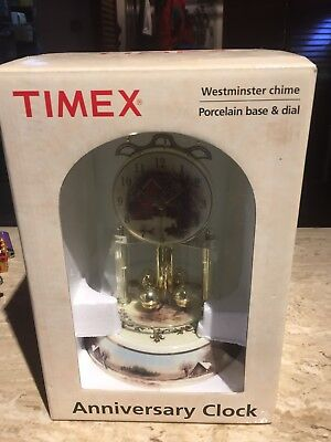 Timex anniversary clock, Westminster Chime With Porcelain Base & Dial