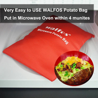 Hot Microwave Baked Potato Bag Cooking Potatoes Washable Pouch Reusable Cooker