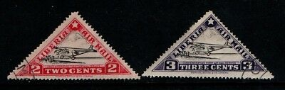 Liberia 1936 Air Mail 2c and 3c SG 531-32 VF Used