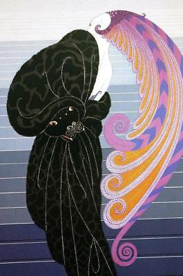 """ERTE, """"BEAUTY AND THE BEAST"""", Hand Signed and numbered serigraph, Mint Condition"""