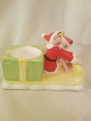Pink Panther 1981 Santa On Sled Candle Holder exclusive collection