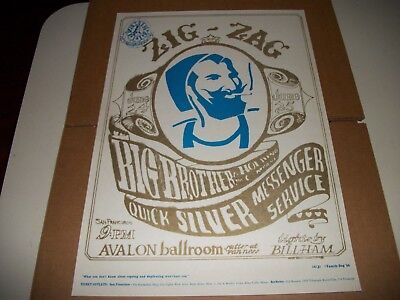 Big Brother And The Holding Company 1966 Zig Zag Man Poster Fd-14 ** Mint**