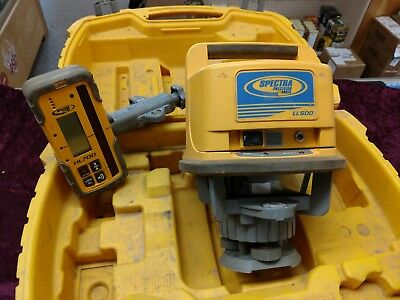 Trimble Spectra Precision LL500 Level With HL700 Receiver and Case Great Price !