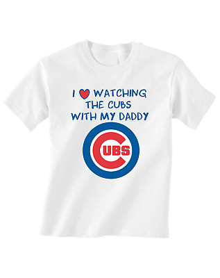 Chicago Cubs Tshirt Toddler T-Shirt Tee Love Watching With Daddy