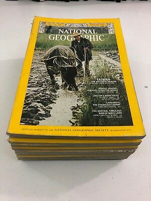 Lot of 12 - National Geographic Magazines - Complete Year - 1969
