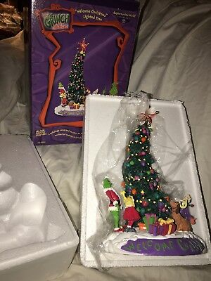 DEPT 56 How The GRINCH Stole Christmas Welcome Lighted Tree #56 59085