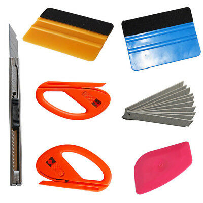 7In1/Set Car Vinyl Wrapping Window Tint Film Installing Tool Squeegee Kit