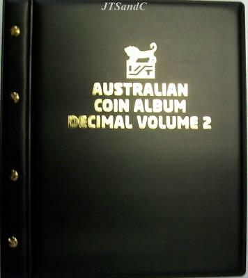 Black Cover VST Australian Decimal Coin Album Vol 2 from 2016 to December 2019