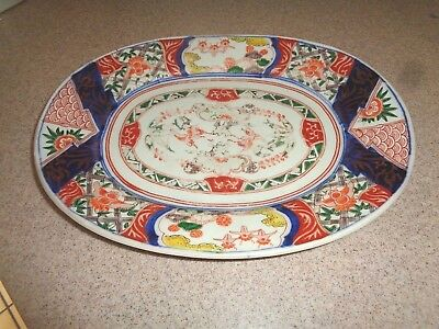 Early  IMARI  Hand Painted Oval Platter