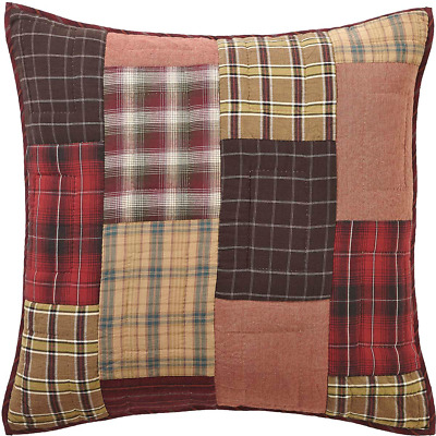 Wyatt Quilted Rustic Patchwork Cotton Country Bedding Euro Sham by VHC