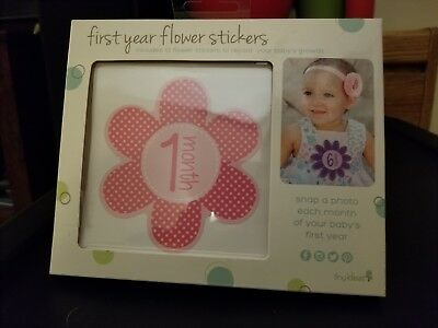 Baby Girl's First Year Photo Flower Stickers