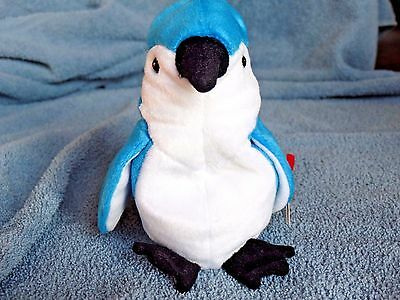 Ty Beanie Baby Rocket the Blue Jay Near Mint Condition