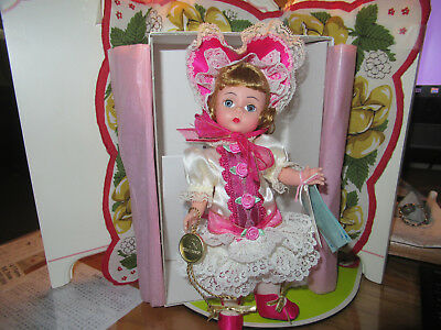 "COLLECTABLE MADAME ALEXANDER LILLIAN VERNON EXCLUSIVE BE MINE 8"" DOLL 75 anniver"