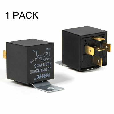 1Pcs 12V Car SPDT Automotive Relay DC 5 Pin 5 Wires W/ Harness Socket 40/30 Amp