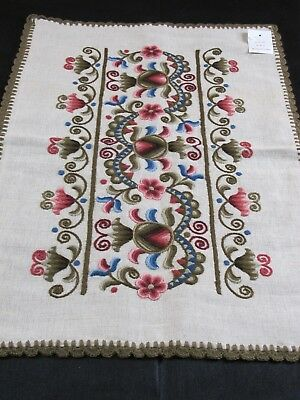 Rare Vintage Floral Hungarian Embroidered Pillowcase Set of 2