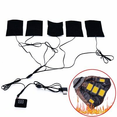 5 in 1 USB Electric Cloth Warmer Heater Pad Heating Element Vest Jacket Warming
