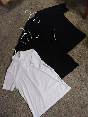 Lot of 3 Womens Sports Shirts Under Armour Nike 1 large 2 xl EUC