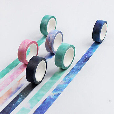 Fashion 3D Sticky Washi Paper Tape Scrapbooking Masking Decal DIY Craft Decor