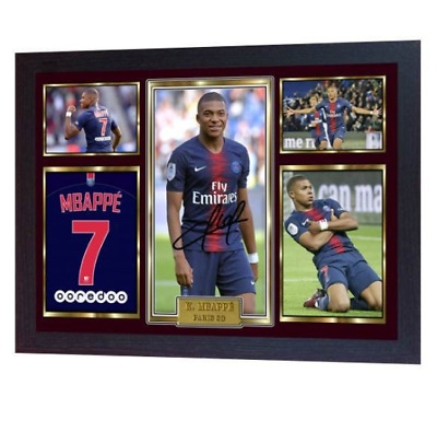 NEW Kylian Mbappe autographed signed photo print MBAPPE FRAMED