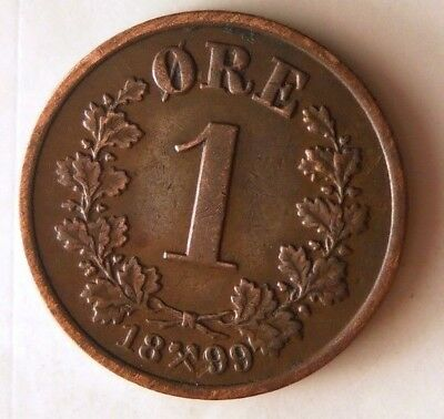1899 NORWAY ORE - Super Scarce - AU - High Value Coin - High Quality - Lot #N10