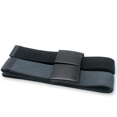 Men's Military Web Belt Canvas Adjustable Style with Metal Buckle