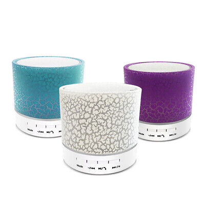 Luminous Lamp Rechargeable Wireless Bluetooth Speaker Portable Mini Super Bass