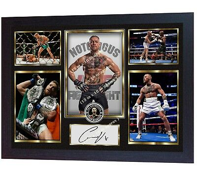 New Conor McGregor signed autographed photo print Framed MDF