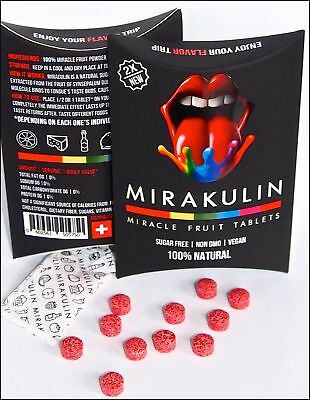 20 PACK | Miracle Berry Fruit Tablets | New Swiss Formula | Double Miraculin