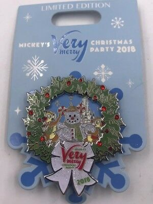 NEW Disney Mickey's Very Merry Christmas Party 2018 Chip and Dale LE Pin