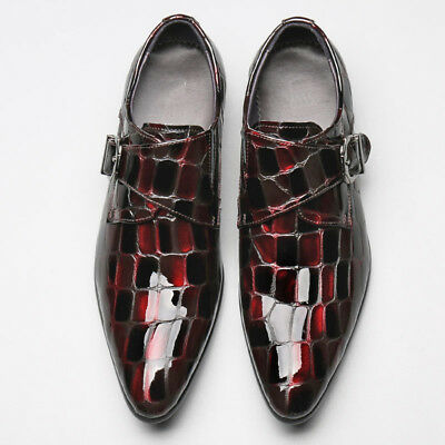 2 Color Fulinken Size 5-12 Leather Pointed Toe Loafers Mens Business Dress Shoes
