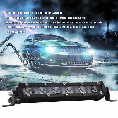 "12V 8"" 60W LED Work Light Bar Spot Beam Car Offroad 4WD SUV Driving Fog Lamp M2"