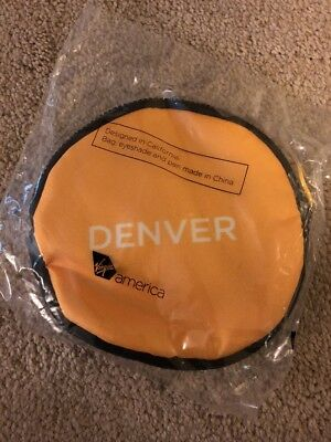 Virgin America Airlines Denver First Class Pouch Eye Mask Brand New