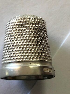 Sterling Silver Thimble - HG & S - Birmingham -1926